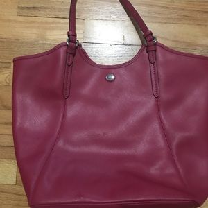 Large red Coach purse